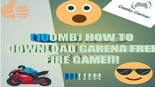 How to download garena free fire game (highly compressed)