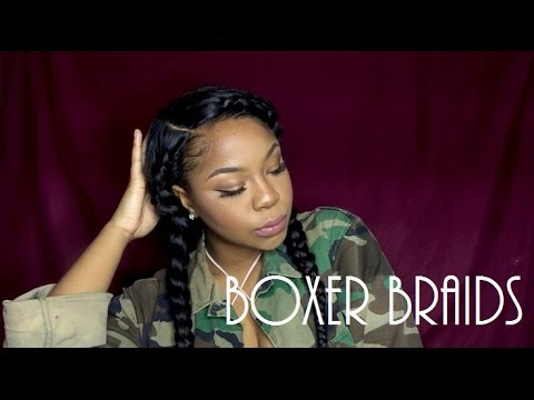 "HOW TO ""BOXER BRAIDS""  ON WIG/SEW IN/WEAVE 