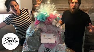 TRIPLE H and STEPHANIE MCMAHON sent a GIGANTIC gift basket to Birdie Joe!