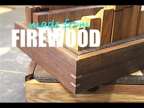 Game Set Made From Fire Wood | 9 Men's Morris, Checkers, Chess