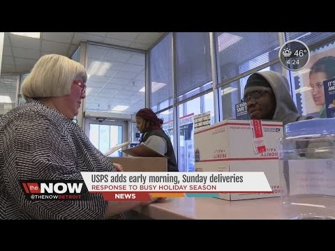 USPS adds early morning, Sunday deliveries for busy holiday season