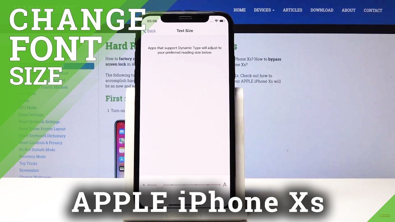 How to Change Font Size in iPhone Xs - Adjust Font Style