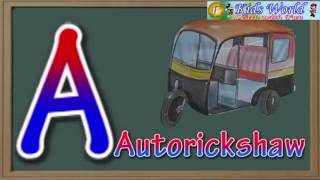 VEHICLE NAMES WITH ABC.... ALPHABETS FOR CHILDREN