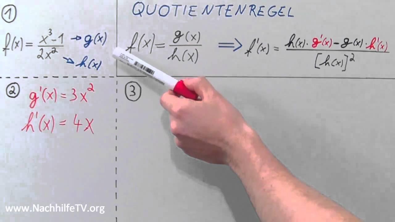 Quotientenregel - Potenzfunktionen ableiten wie ein Profi! - YouTube