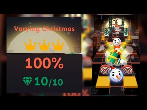 Rolling Sky Level 24 Varying Christmas 100% Clear - All Gems & Crowns | SHA