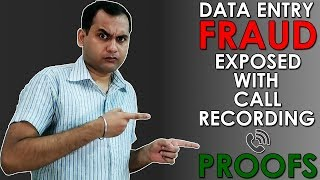 Fraud Data Entry & Typing jobs in India with call recording proofs | Fake Data Entry & Typing jobs