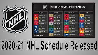 2020-21 NHL Schedule Released