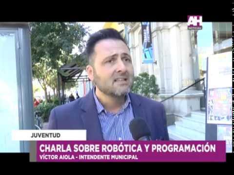 VICTOR AIOLA   CHARLA SOBRE ROBOTICA Y PROGRAMACION
