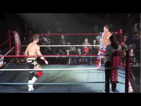 Dean Allmark vs Nathan Cruz from Skegness Butlins 17th Febuary 2013 All Star Wrestling UK UK