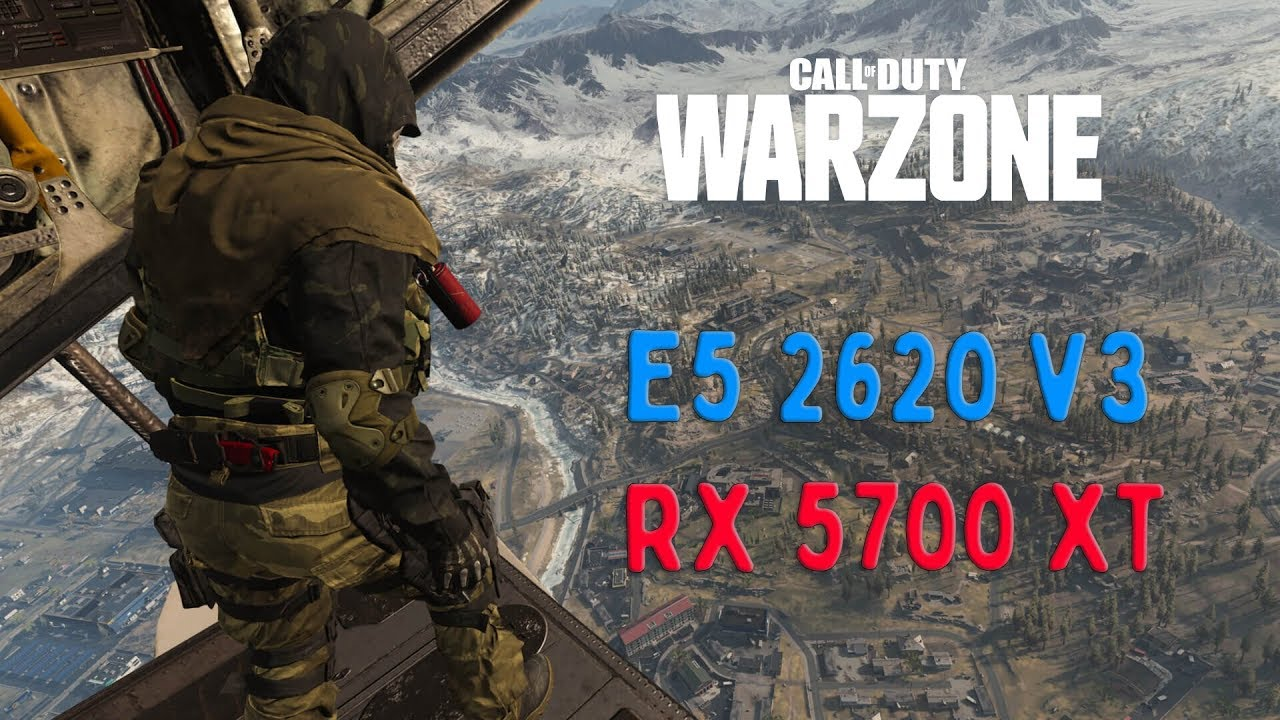 Call of Duty Modern Warzone Xeon e5 2620v3 and rx 5700 xt