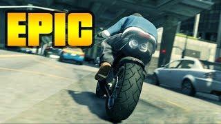 GTA 5: EPIC MOTORBIKE STUNT MONTAGE!