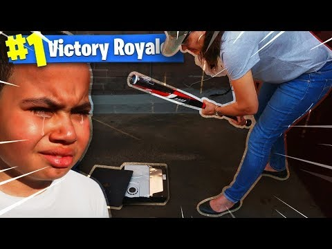 ANGRY MOM DESTROYS 9 YEAR OLD LITTLE KID'S PS4 IN THE MIDDLE OF A FORTNITE GAME PRANK!!! *HE CRIED!*