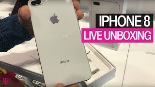 Unboxing the new iPhone 8 LIVE!