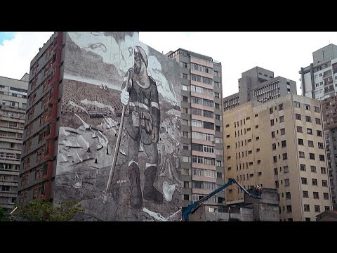 شاهد | لوحة جدارية من رماد الأمازون في ساو باولو البرازيلية