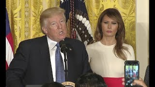 Trump Avoids Immigration Talk During Hispanic Heritage Celebration - Full Event
