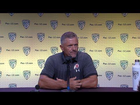 2018 Pac-12 Football Media Day: Utah's Kyle Whittingham podium session
