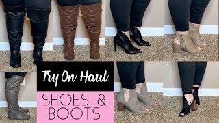 Plus Size Wide Calf Boot & Fall Shoe Haul