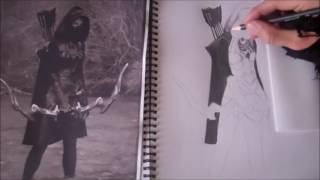 Nightingale From Skyrim - Timelapse Drawing