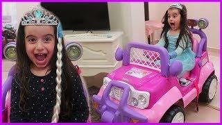 Prenses Arabasında Sihir Yaptık Karlar Kraliçesi Olduk, Şarkısını Söyledik l Eğlenceli Çocuk Videosu
