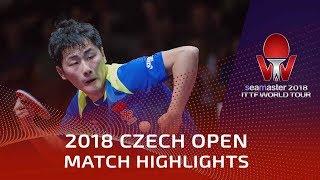 Zheng Peifeng vs Bastian Steger | 2018 Czech Open Highlights (1/4)