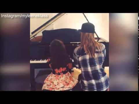 Myleene Klass performs piano duet with daughter