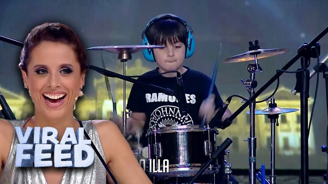 YOUNG BOY IMPRESSES JUDGES WITH DRUMMING TALENT | VIRAL FEED