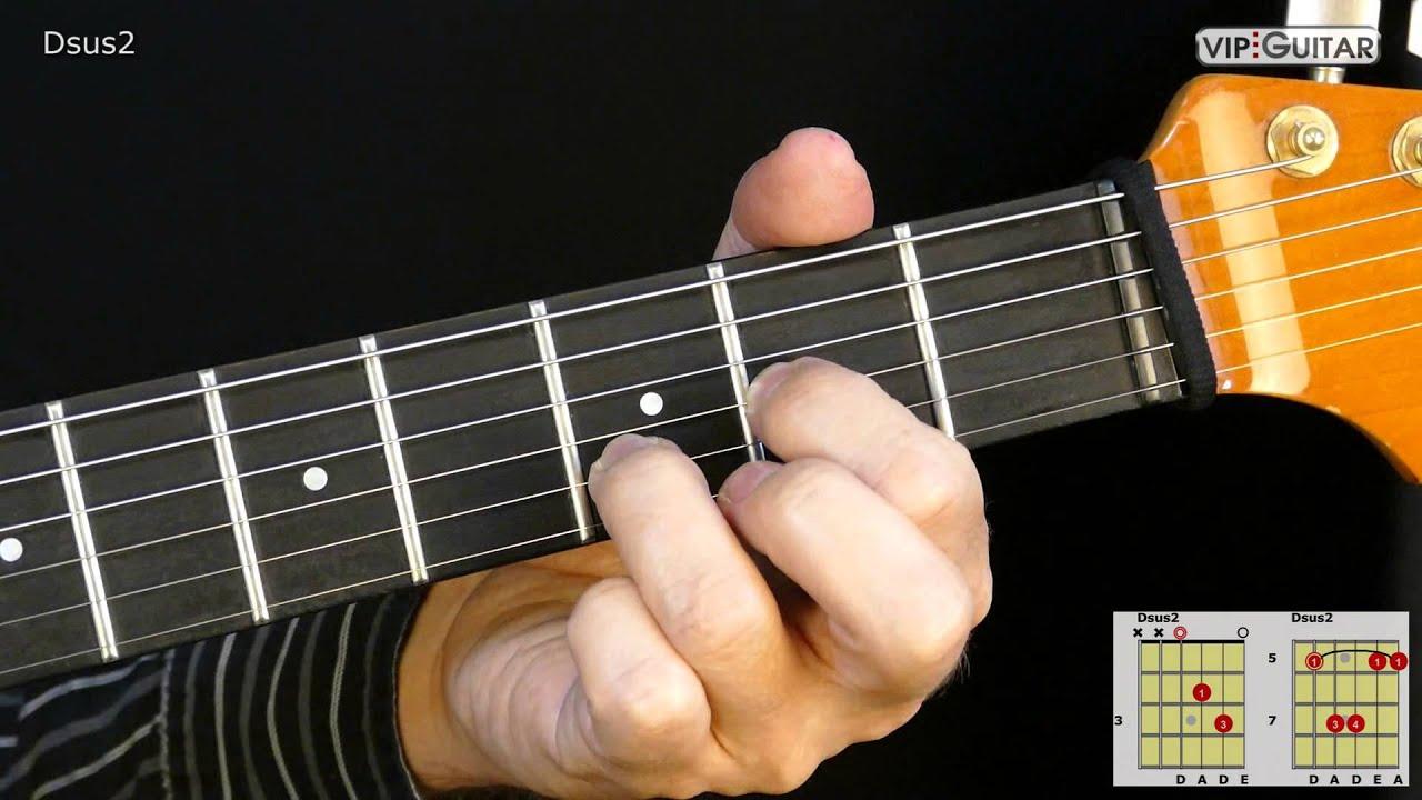 Gitarrenakkorde Dsus2 Dsus2 Chord Youtube