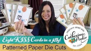 Patterned Paper Die Cutting - EIGHT KISS Cards!