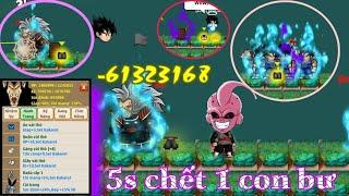 Ngọc Rồng online - tiêu diệt ma bư chỉ với 5s , may mắn nhận được quần thần linh trái đất !!!