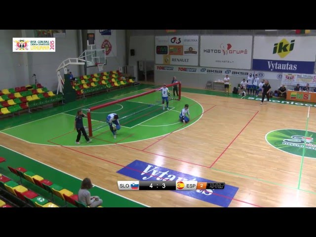 49 Slovenia   Spain Men 2015 IBSA Goalball European Championships Lithuania