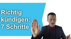 Richtig kündigen, Kündigung schreiben: Die 7 Schritte (Arbeitnehmer/Arbeitgeber) // M. Wehrle