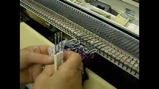 Ruffled Scarf On Knitting Machine By Carole Wurst