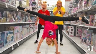 Doing FLIPS at Target with friends! Payton Delu