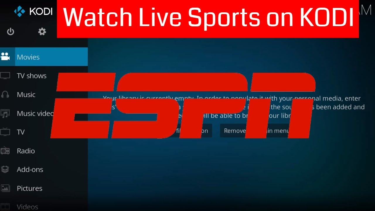 How to Install ESPN3 Kodi Add-on