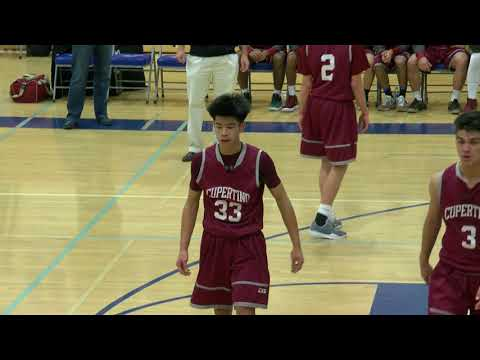 Cupertino Pioneers  vs Los Altos Eagles - Boys Basketball, January 5th, 2018