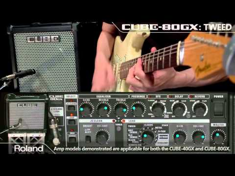 Roland CUBE-80GX/CUBE-40GX  Guitar Amplifier Sound Preview