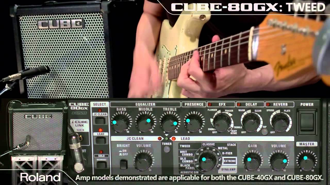 Roland Cube 80gx Cube 40gx Guitar Amplifier Sound Preview Youtube