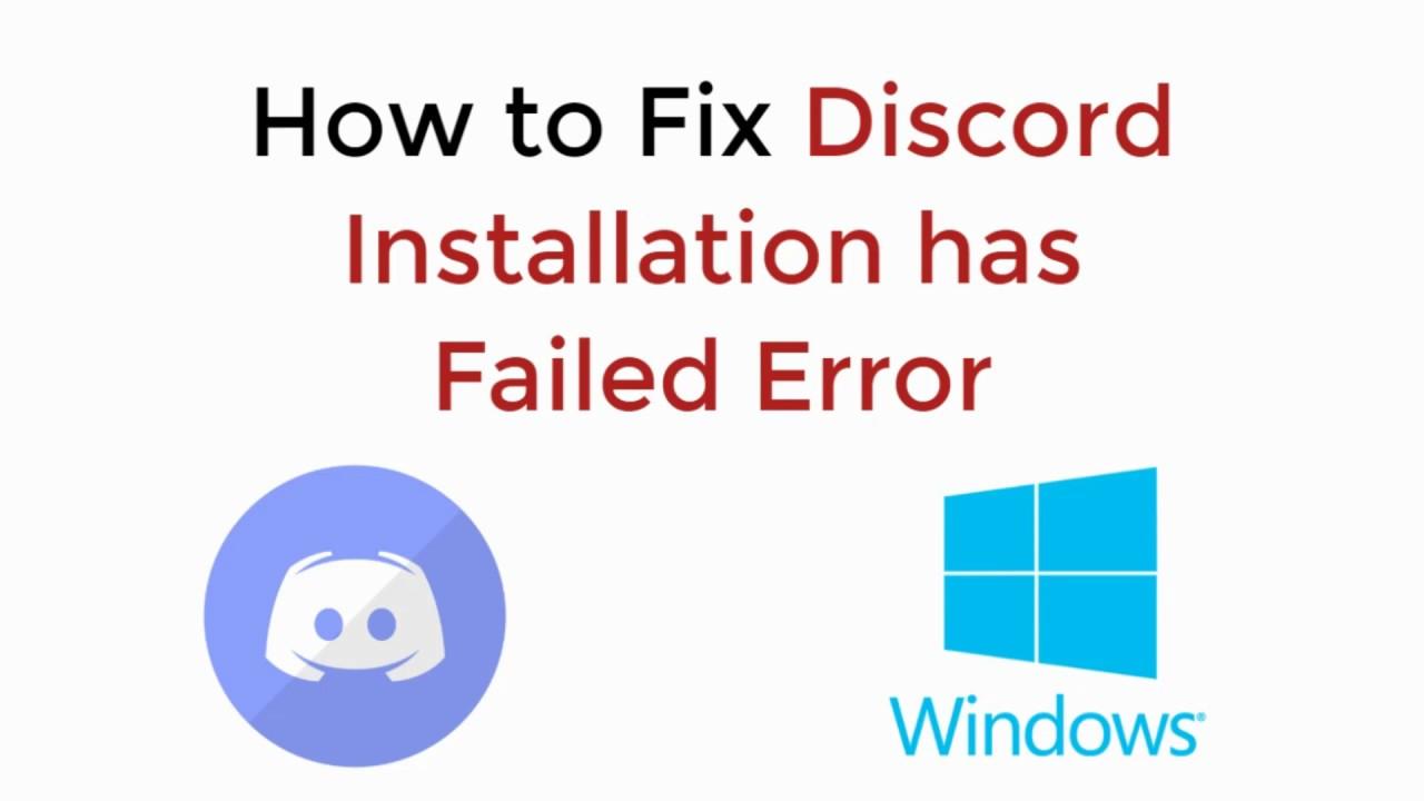 Discord Installation Failed