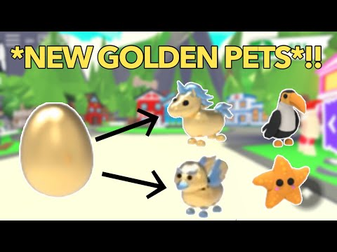 Hatching A GOLDEN EGG In Adopt Me! New Rewards And Pets!/Roblox