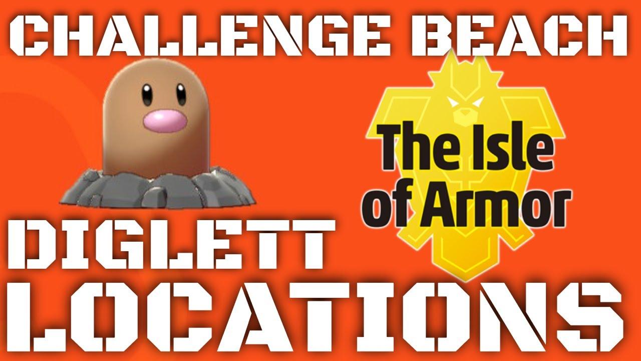 Isle Of Armor Diglett Locations Challenge Beach