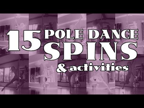 15 Basic Pole Dance Spins & Activities (Beginner & Intermediate) Tutorial