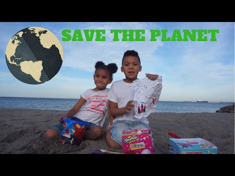 SAVE OUR PLANET, surprise egg hunt on the beach, marine life, clean up the beach