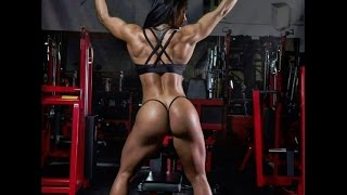 Sexy muscle Athletic women black