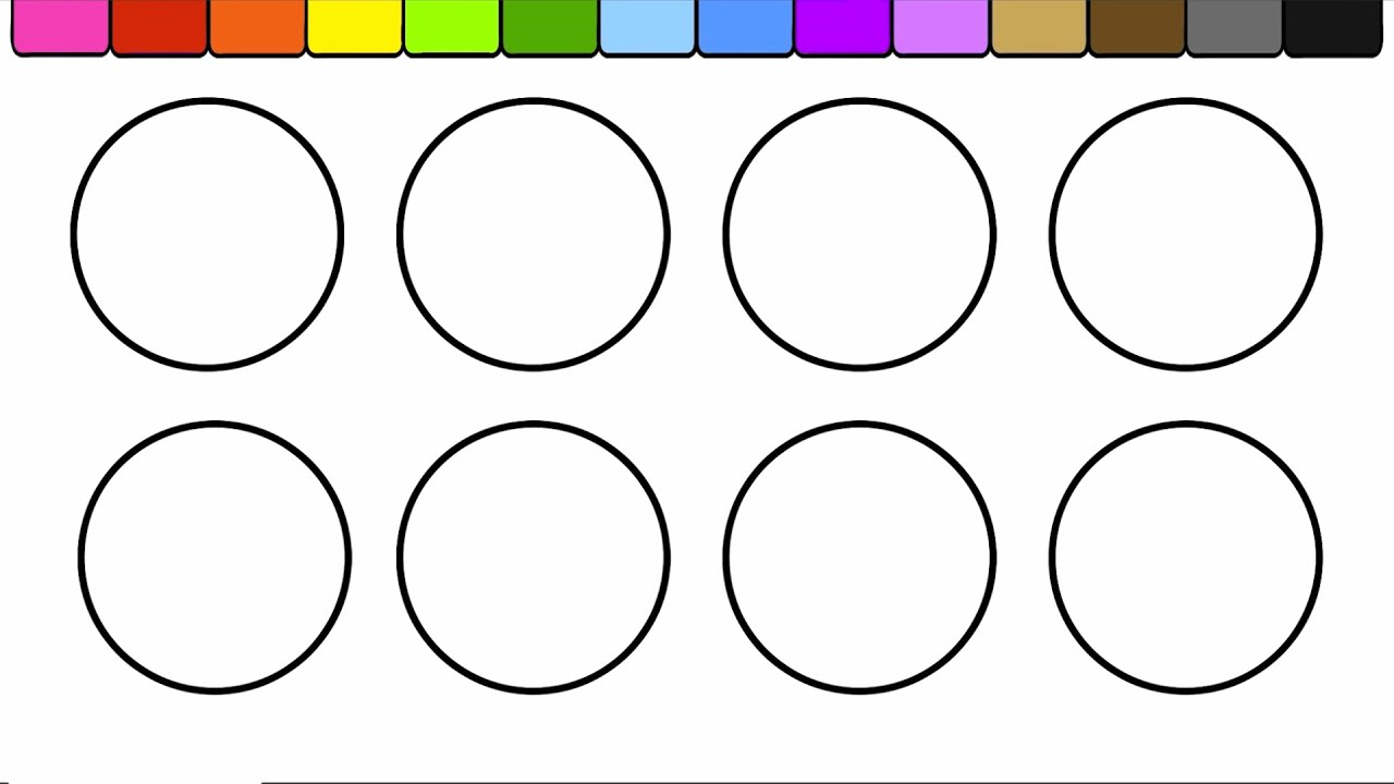 Learn Colors for Kids and Color Circles + Ice Cream + More Coloring Pages