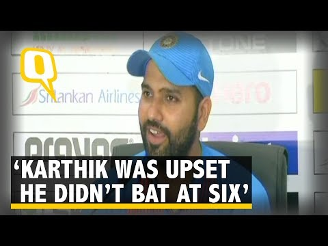 Karthik Wasn't Happy About Batting Down the Order: Rohit Sharma | The Quint
