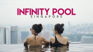Video Marina Bay Sands Skypark Infinity Pool Singapore | Singapore Vlog download MP3, 3GP, MP4, WEBM, AVI, FLV November 2018