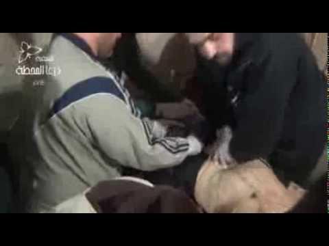 +18 المجزرة المروعة التي قام بها قوات النظام على حي طريق السد 24-11-2013