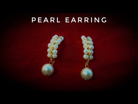 Pearl Earrings Tutorial / Elegant Pearl Earrings Making by Jewellery box