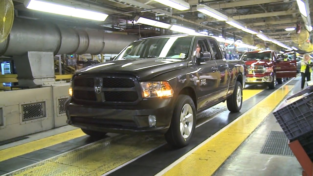 Ram 1500 Production at the Warren Truck Assembly Plant ...