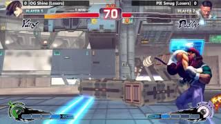 USF4 @ NLBC #137 Grand Finals - PIE Smug vs OG Shine [720p/60fps]